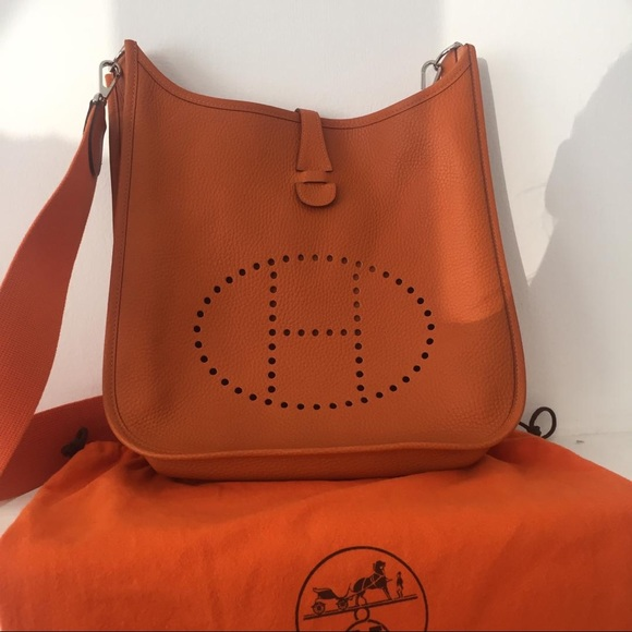 5c3541d8070b Hermes Bags | Herms Evelyne Pm Clemence Leather Crossbody Bag | Poshmark